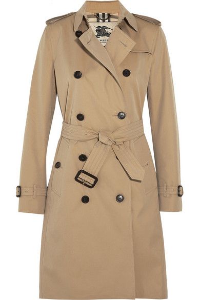 Burberry   The Kensington Long cotton-gabardine trench coat   NET-A ... e275d298999
