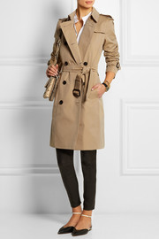 Burberry London The Kensington Long cotton-gabardine trench coat