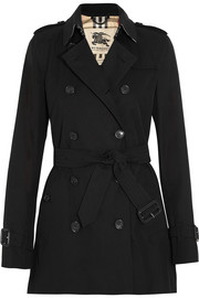 The Kensington Short cotton-gabardine trench coat