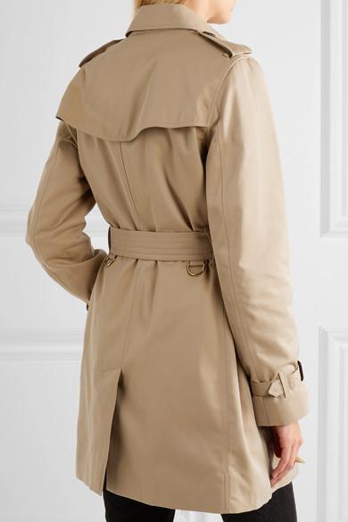 Burberry The Kensington mittellanger Trenchcoat aus Baumwoll-Gabardine
