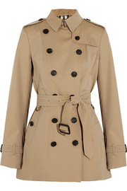 Burberry London The Sandringham Short cotton-gabardine trench coat