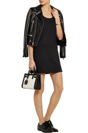 Saint Laurent Wool-crepe mini dress