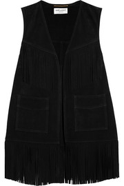Saint Laurent Fringed suede vest