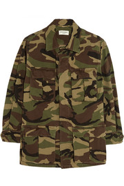 Saint Laurent Camouflage-print cotton-gabardine jacket