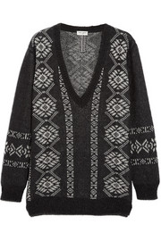 Saint Laurent Fair Isle wool-blend sweater