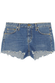 Saint Laurent Cut-off denim shorts