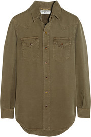 Washed-twill shirt