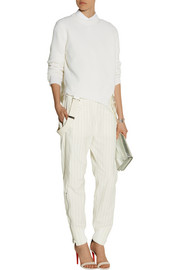 Sacai Sacai Luck pinstriped cotton-blend tapered pants