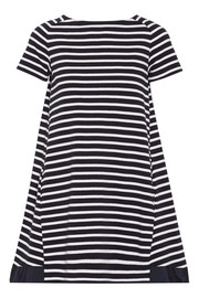 Sacai Luck striped cotton mini dress
