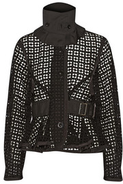 Sacai Luck cotton-lace peplum jacket