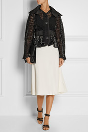 Sacai Sacai Luck cotton-lace peplum jacket