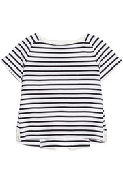 Sacai Luck striped cotton-jersey T-shirt