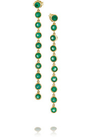 18-karat gold emerald drop earrings