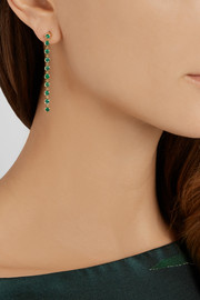 Jennifer Meyer 18-karat gold emerald drop earrings