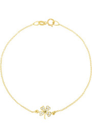 Jennifer Meyer 18-karat gold diamond four-leaf clover bracelet