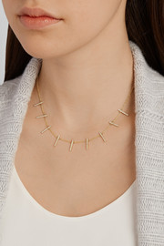Jennifer Meyer 18-karat gold diamond crossbar necklace