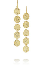 Hammered 18-karat gold earrings