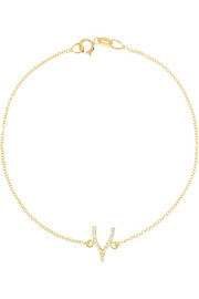 Jennifer Meyer 18-karat gold diamond wishbone bracelet