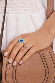 Jennifer Meyer Evil Eye 18-karat gold turquoise, lapis lazuli and diamond ring