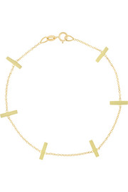 Jennifer Meyer 18-karat gold crossbar bracelet