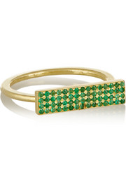 18-karat gold emerald ring