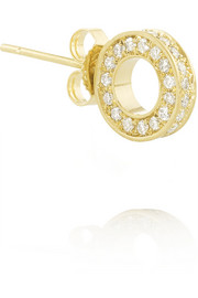 18-karat gold diamond circle stud earring