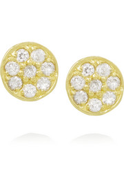 Jennifer Meyer 18-karat gold diamond circle earrings