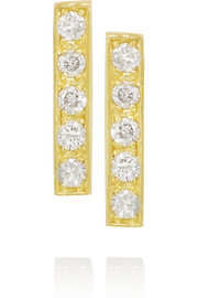 Jennifer Meyer 18-karat gold diamond stud earrings