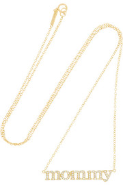 Mommy 18-karat gold diamond necklace