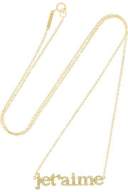 Jennifer Meyer Je T'Aime 18-karat gold diamond necklace