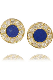 18-karat gold, lapis lazuli and diamond earrings