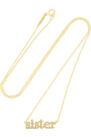 Sister 18-karat gold diamond necklace