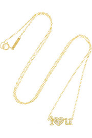 Jennifer Meyer I Heart U 18-karat gold diamond necklace