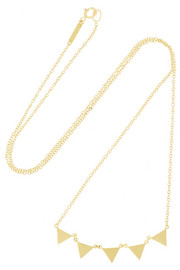 18-karat gold banner necklace