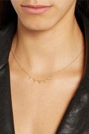 Jennifer Meyer 18-karat gold banner necklace