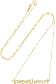 Jennifer Meyer Sweetheart 18-karat gold necklace