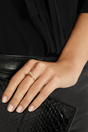 Jennifer Meyer 18-karat gold diamond triangle ring