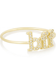 BFF 18-karat gold diamond ring