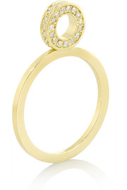 18-karat gold diamond circle ring