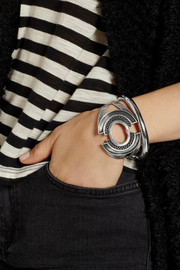 Pamela Love Cutout burnished silver-plated brass cuff