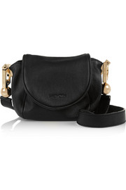 Lena small textured-leather shoulder bag