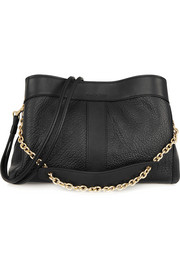 Beki textured-leather shoulder bag
