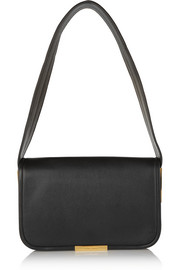 Aster textured-leather shoulder bag