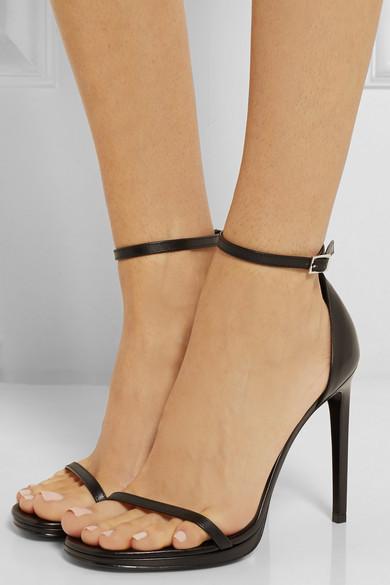 c9299a31f8ee9 Saint Laurent. Jane leather sandals