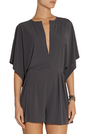 Norma Kamali Rectangle pleated jersey playsuit