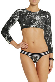 Norma Kamali Printed rash guard