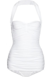 Norma Kamali Bill Mio ruched halterneck swimsuit