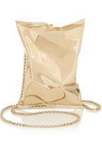 Crisp Packet gold-tone clutch