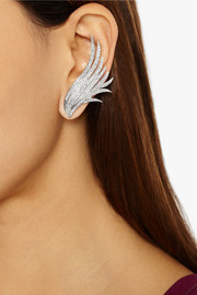 Ana Khouri Wing 18-karat white gold diamond earrings