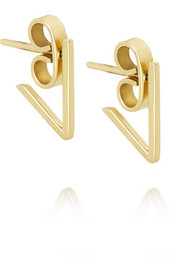 Ana Khouri V 18-karat gold earrings
